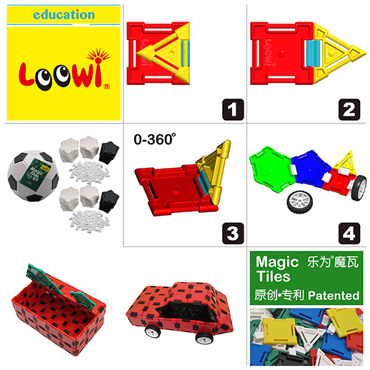Loowi Magic Tiles @Loowi artToys, spatial intelligence, fine bodily-kinesthitic intelligence, interpersonal intelligence